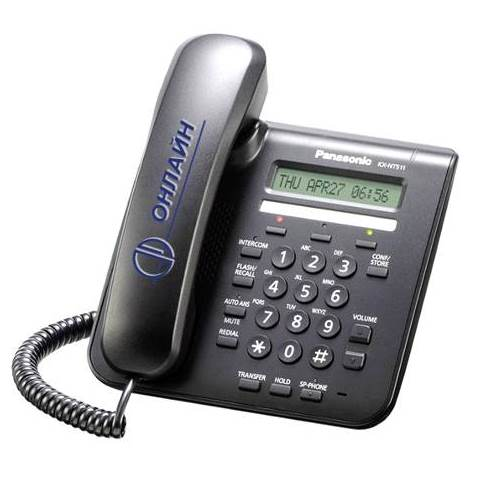 KX-NT511ARUB системный IP телефон Panasonic, цвет - черный