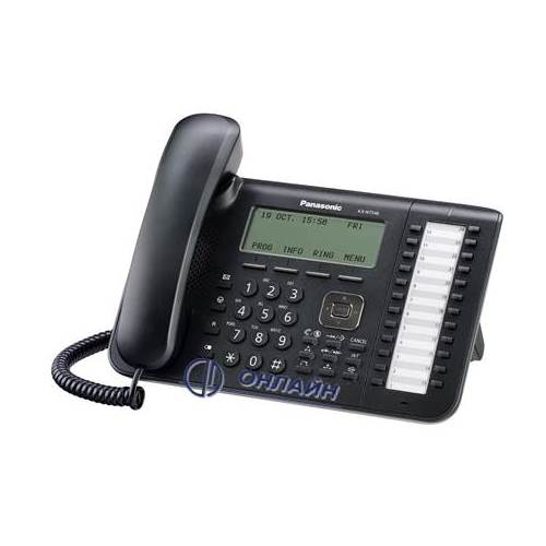 KX-NT546RU-B системный IP телефон Panasonic, 24 программируемые клавиши, 6-ти строчный дисплей