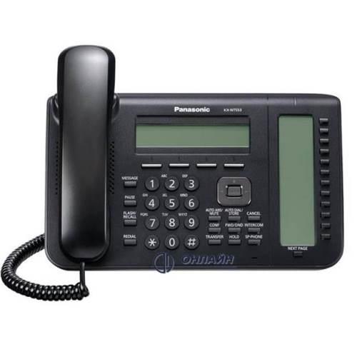 KX-NT553RU-B системный IP телефон Panasonic, 24 клавиши, ЖК дисплей, черный