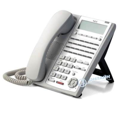 IP4WW-24TIXH-C-TEL (WH) Системный телефон IP, ЖКД, 24 клавиши, белый, для АТС NEC SL1000