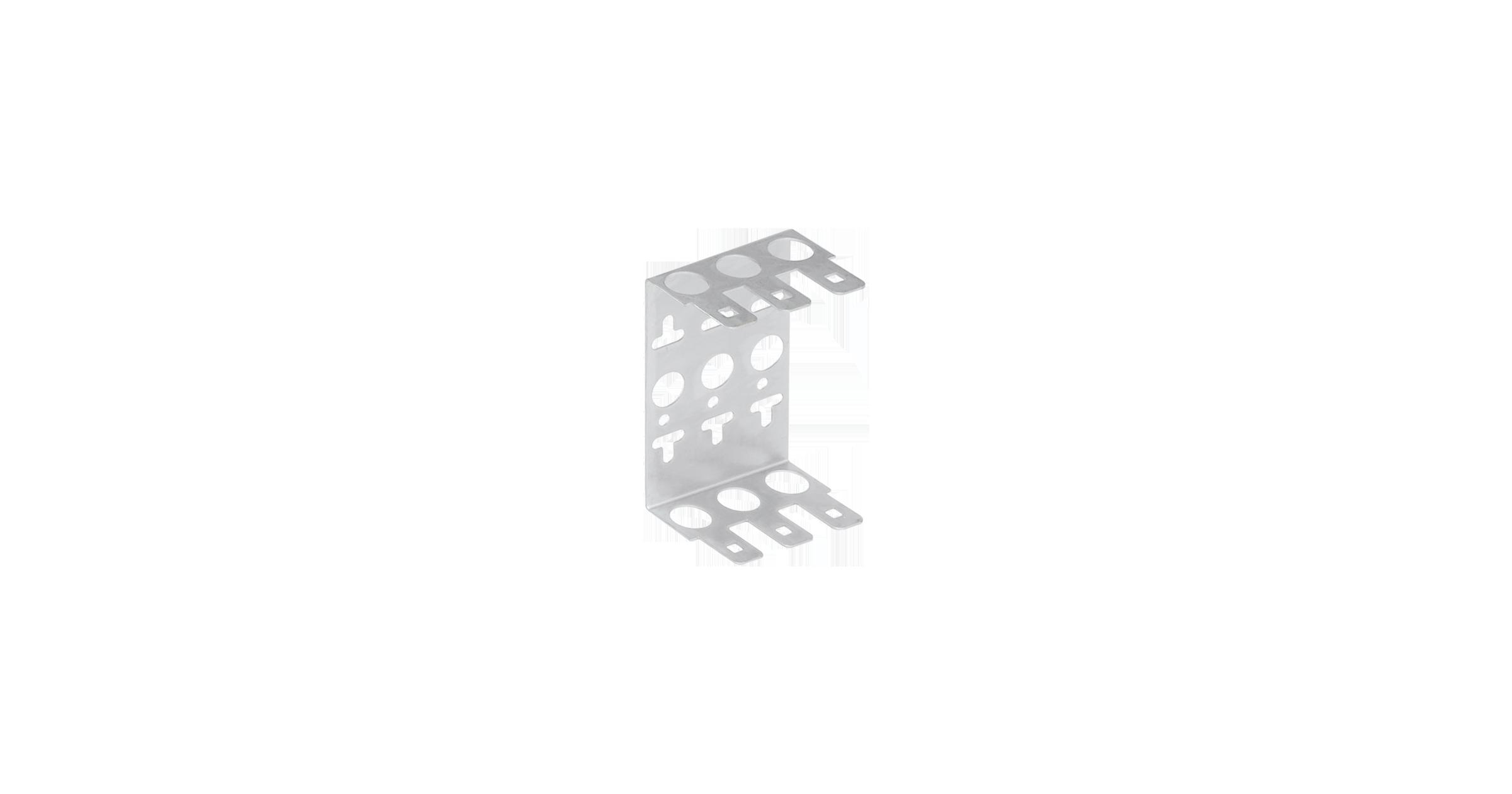 NMC-WCPL3-2 Кронштейн NIKOMAX настенный, на 3 плинта, металлический, уп-ка 2шт.