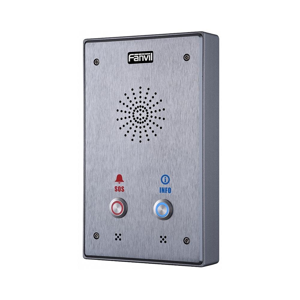 Fanvil i12-N-02P SIP-интерком, накладной, внешний, IP65, IK10, 2 кнопки