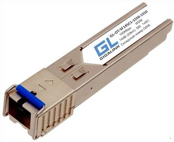GL-OT-SF14SC1-1550-1310-I Модуль GIGALINK промышленный, SFP, WDM, 100/155 Мбит/c, одно волокно SM, SC, Tx:1550/Rx:1310 нм, 14 дБ (до 20 км), -40C