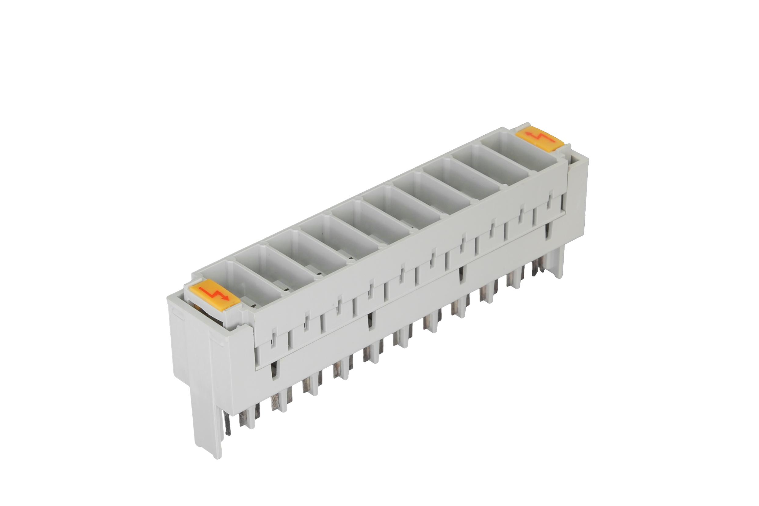 NMC-PL-PM10 Магазин защиты плинтов по напряжению NIKOMAX, на 10 пар, используется с трехконтактными разрядниками, серый