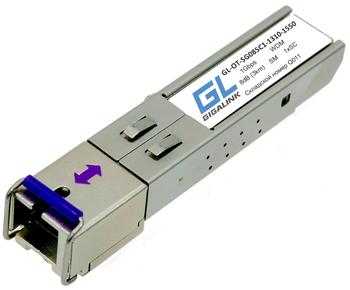 GL-OT-SG08SC1-1550-1310-D Модуль GIGALINK SFP, WDM, 155Mb/1.25Гбит/c, одно волокно SM, SC, Tx:1550/Rx:1310 нм, DDM, 8 дБ (до 3 км)