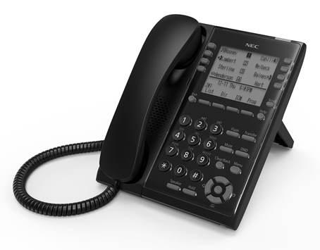 IP7WW-8IPLD-C1 TEL(BK) IP телефон, ЖКД, 8 клавиш, черный, для АТС NEC SL2100