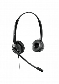 VT6200-D QD(P)-RJ9(03) Гарнитура головная VT, Дуо, HD звук, QD, переходник QD-RJ09(03)