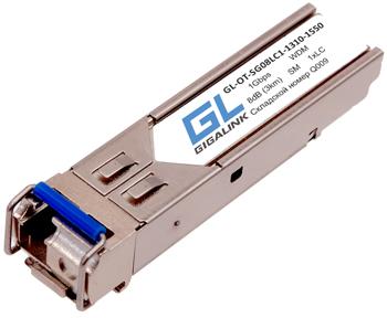 GL-OT-SG08LC1-1310-1550-D Модуль GIGALINK SFP, WDM, 1Гбит/c, одно волокно SM, LC, Tx:1310/Rx:1550 нм, DDM, 8 дБ (до 3 км)