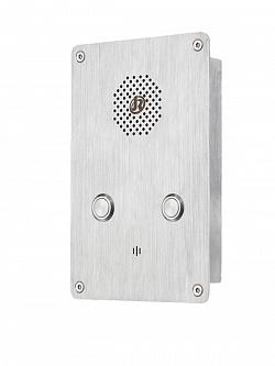 JR301-2B-IW-SIP Всепогодная вандалозащищенная вызывная панель, IP55, SIP, 2хRJ45