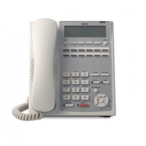 IP4WW-12TXH-A-TEL (WH) Системный телефон, ЖКД, 12клавиш, белый, для АТС NEC SL1000