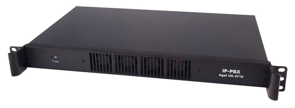 IP-АТС Агат UX-3710B Base (от 4 до 80 каналов FXO/FXS в любой комбинации, до 40 цифровых системных телефонов, до 16 потоков E1)