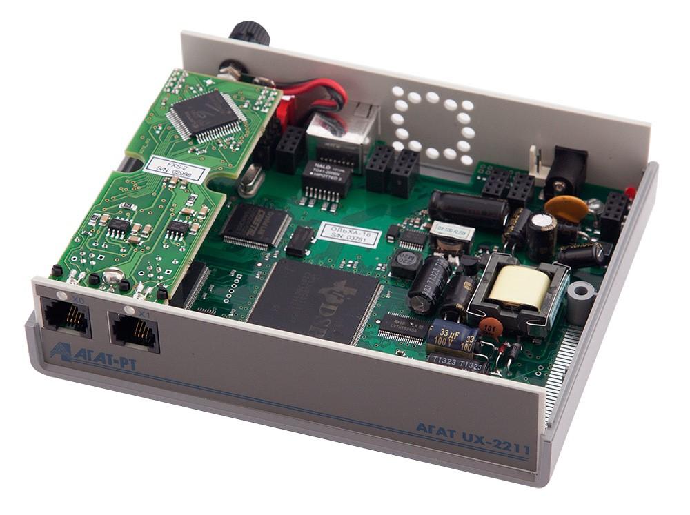 Мезонин MU22-FXS-2 Плата расширения для подключения 2 (двух) внутренних аналоговых линий, устанавливается в шасси UX-2211