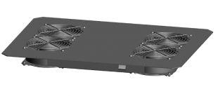 TLK-FAN4-BK Вентиляторный блок TLK для напольных шкафов серий TFR, TFL, TFE, 4 вентилятора, без шнура питания, черный