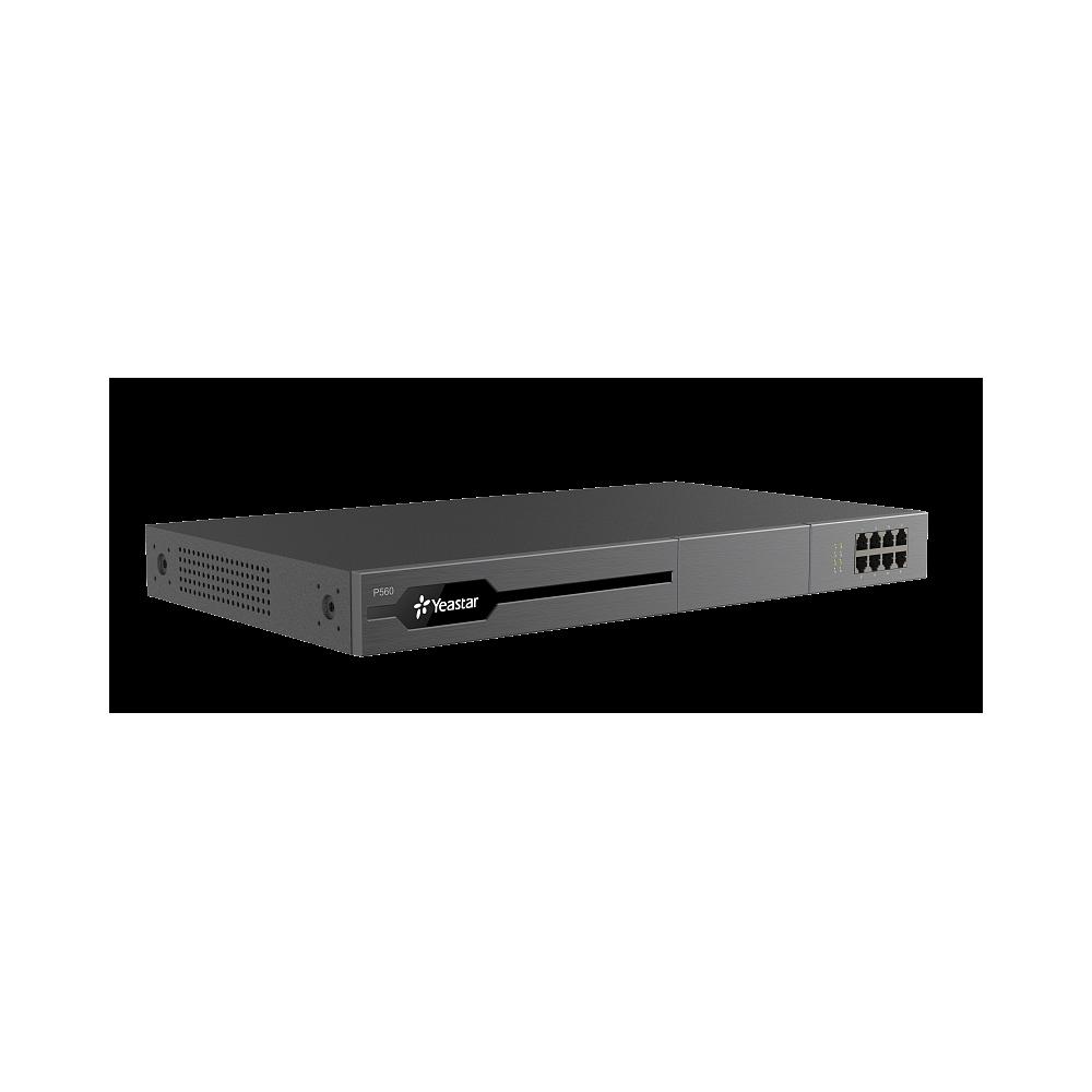 YEASTAR P560, IP-АТС на 100 (до 200) абонентов и 30 (до 60) вызовов, PRI, MFC R2, SS7, поддержка FXO, FXS, GSM, BRI