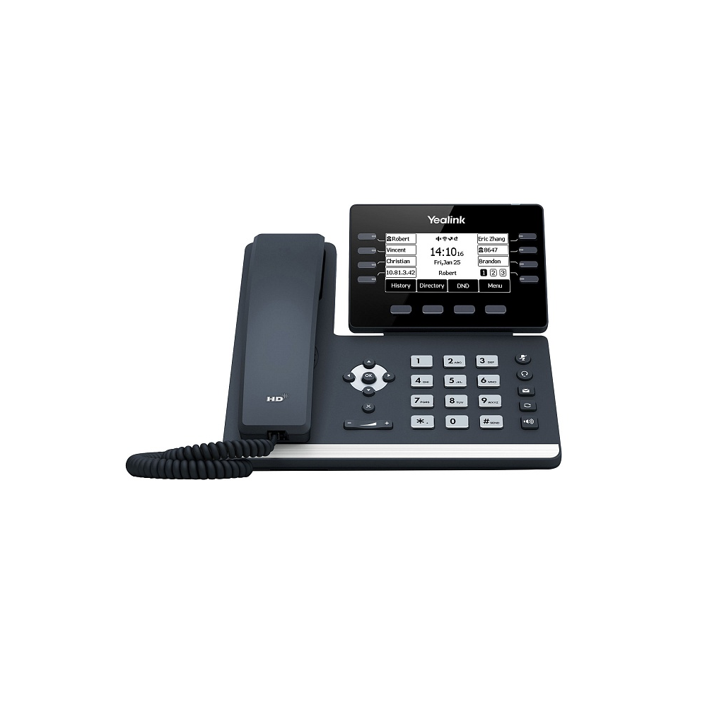 SIP-T53W SIP-телефон, 12 аккаунтов, USB, Bluetooth, WiFi, GigE, без БП