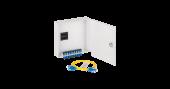 NMF-WP08SCUS2-OB-GY Оптический кросс NIKOMAX настенный, укомплектованный на 8 портов SC/UPC, SM 9/125 OS2, стальной, с ключом, серый, в комплекте: адаптеры, монтажные шнуры 1м, ложемент и КДЗС