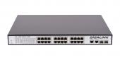 GL-SW-F003-24P Коммутатор GIGALINK неуправляемый, 24 PoE (802.3af/at) портов 100Мб/с, 2 ComboSFP 1000Мб/с, 250Вт