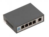 GL-SW-F002-04P Коммутатор GIGALINK неуправляемый, 4 PoE (802.3af/at) портов 100Мб/с, 1 Uplink порт 100Мб/с, до 150 м, 60Вт