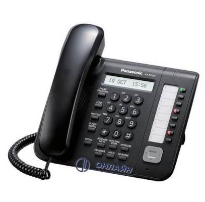 KX-NT551RU-B системный IP телефон Panasonic, ЖК дисплей, 8 программируемых клавиш, черный