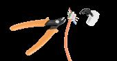 NMC-222 Кусачки NIKOMAX боковые электромонтажные прецизионные, для жил из мягких металлов толщиной до 1мм (не для стали)
