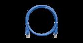 NMC-PC4UD55B-010-BL Коммутационный шнур NIKOMAX U/UTP 4 пары, Кат.5е (Класс D), 100МГц, 2хRJ45/8P8C, T568B, заливной, с защитой защелки, многожильный, BC (чистая медь), 24AWG (7х0,205мм), PVC нг(А), синий, 1м