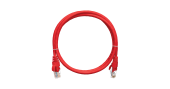 NMC-PC4UD55B-010-RD Коммутационный шнур NIKOMAX U/UTP 4 пары, Кат.5е (Класс D), 100МГц, 2хRJ45/8P8C, T568B, заливной, с защитой защелки, многожильный, BC (чистая медь), 24AWG (7х0,205мм), PVC нг(А), красный, 1м