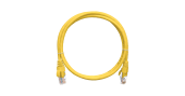 NMC-PC4UD55B-030-YL Коммутационный шнур NIKOMAX U/UTP 4 пары, Кат.5е (Класс D), 100МГц, 2хRJ45/8P8C, T568B, литой, с защитой защелки, многожильный, 24AWG (7х0,205мм), PVC нг(А), желтый, 3м