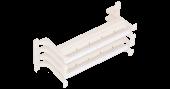 NMC-CB110-100L Настенный блок NIKOMAX 110 типа, 100 пар, с ногами и cъемной этикеткой, белый