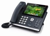 SIP-T48S SIP-телефон, цветной сенсорный экран, 16 линий, BLF, PoE, GigE, без БП