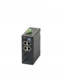GL-SW-G001-04PSG-I Коммутатор GIGALINK неуправляемый, индустриальный на DIN рейку, 4 PoE (802.3af) порта 1Гбит/с, 2 x SFP/1000BaseX, питание 48В (питание поставляется отдельно 60-120 ватт)