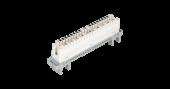 NMC-PL10-DU-10 Плинт NIKOMAX 10 пар, Кат.3 (Класс C), 16МГц, контакты типа KRONE, размыкаемый, маркировка 0...9, крепление под кронштейн и круглые направляющие, белый, уп-ка 10шт.