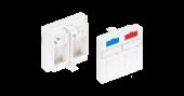 NMC-PM2P-PF-WT Вставка NIKOMAX типа Mosaic 45x45мм, 2 порта, под модули-вставки типа Keystone, со шторками, белая