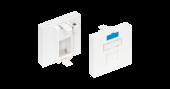 NMC-PM1P-PF-WT Вставка NIKOMAX типа Mosaic 45x45мм, 1 порт, под модули-вставки типа Keystone, со шторкой, белая