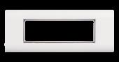 NMC-PL3PM-WT Настенная лицевая панель NIKOMAX под 3 вставки типа Mosaic 45х45мм, с подрамником, белая