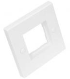NMC-PL86X86F Настенная лицевая панель NIKOMAX 86х86мм для вставок формата Mosaic 45х45мм, белая