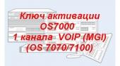 OS7-WMG01/SVC Ключ активации OS7000 (OS7100/7070) 1 канала VOIP (MGI)