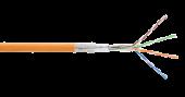 NKL 9300C-OR Кабель NIKOLAN SF/UTP 4 пары, Кат.5e (Класс D), тест по ISO/IEC, 100МГц, одножильный, BC (чистая медь), 24AWG (0,511мм), внутренний, LSZH нг(А)-HFLTx, оранжевый, 305м