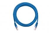 EC-PC4UD55B-BC-PVC-005-BL-10 Коммутационный шнур NETLAN U/UTP 4 пары, Кат.5е (Класс D), 100МГц, 2хRJ45/8P8C, T568B, заливной, многожильный, BC (чистая медь), PVC нг(B), синий, 0,5м, уп-ка 10шт.
