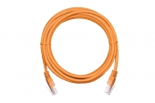 EC-PC4UD55B-BC-PVC-005-OR-10 Коммутационный шнур NETLAN U/UTP 4 пары, Кат.5е (Класс D), 100МГц, 2хRJ45/8P8C, T568B, заливной, многожильный, BC (чистая медь), PVC нг(B), оранжевый, 0,5м, уп-ка 10шт.
