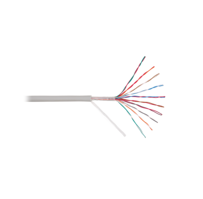 NKL 8120A-GY Кабель NIKOLAN U/UTP 10 пар, Кат.3 (Класс C), 16МГц, одножильный, BC (чистая медь), 26AWG (0,405мм), внутренний, PVC нг(А), серый, 305м