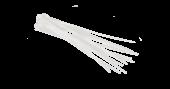 NMC-CTN400-45-SL-WT-100 Стяжка NIKOMAX нейлоновая неоткрывающаяся, 400х4,5мм, белая, уп-ка 100шт.
