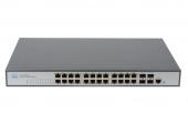 GL-SW-G201-24P Коммутатор GIGALINK управляемый L2, 24 PoE (802.3af/at) портов 10/100/1000Мб/с, 4 SFP, 400Вт