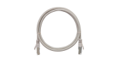 NMC-PC4SD55B-030-C-GY Коммутационный шнур NIKOMAX F/UTP 4 пары, Кат.5е (Класс D), 100МГц, 2хRJ45/8P8C, T568B, заливной, с защитой защелки, многожильный, BC (чистая медь), 26AWG (7х0,165мм), LSZH нг(А)-HFLTx, серый, 3м