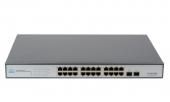 GL-SW-G003-24P Коммутатор GIGALINK неуправляемый 24 PoE (802.3af/at) портов 1Гбит/с, 2 SFP, 250Вт