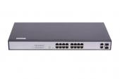 GL-SW-F104-16P Коммутатор GIGALINK, Web Smart, 16 PoE (802.3af/at) портов 100Мб/с, 2 ComboSFP 1000Мб/с, 330Вт