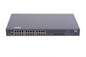 GL-SW-G204-28P Коммутатор GIGALINK управляемый L2 PоE, 24 BASE-TX 10/100/1000Mb/s PоE, 4 1/10G SFP+, 1 Console, 1U 19