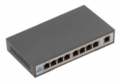 GL-SW-F001-08P Коммутатор GIGALINK неуправляемый, 8 PoE (802.3af/at) портов 100Мбит/с, 1 Uplink порт 100Мбит/с, 120Вт