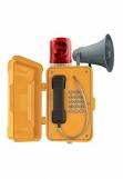 JR101-FK-Y-HB-SIP Промышленный SIP телефон с крышкой, проблесковым маячком, громкоговорителем, DC 5V