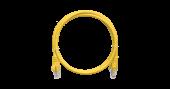 NMC-PC4UD55B-005-YL Коммутационный шнур NIKOMAX U/UTP 4 пары, Кат.5е (Класс D), 100МГц, 2хRJ45/8P8C, T568B, заливной, с защитой защелки, многожильный, BC (чистая медь), 24AWG (7х0,205мм), PVC нг(А), желтый, 0,5м