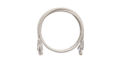 NMC-PC4UD55B-010-GY Коммутационный шнур NIKOMAX U/UTP 4 пары, Кат.5е (Класс D), 100МГц, 2хRJ45/8P8C, T568B, заливной, с защитой защелки, многожильный, BC (чистая медь), 24AWG (7х0,205мм), PVC нг(А), серый, 1м